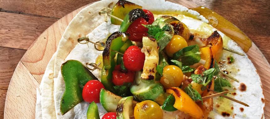 Šareni kebab od povrća