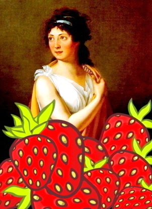 tallien with strawberries
