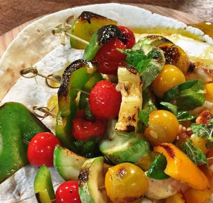 Kebab od povrća Vegeterijanski ražnjić