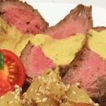 Biftek u sosu od semena bundeve
